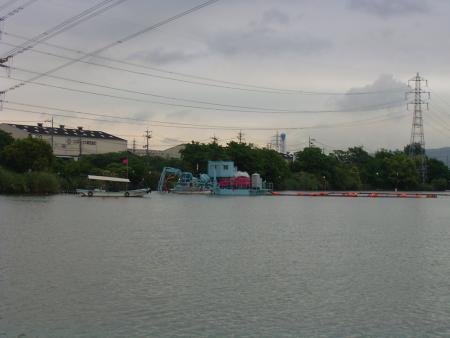 倉敷市遊水池浚渫工事