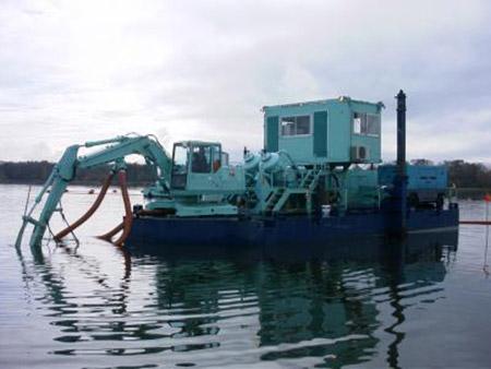 北海道:涛沸湖カキ養殖場造成工事